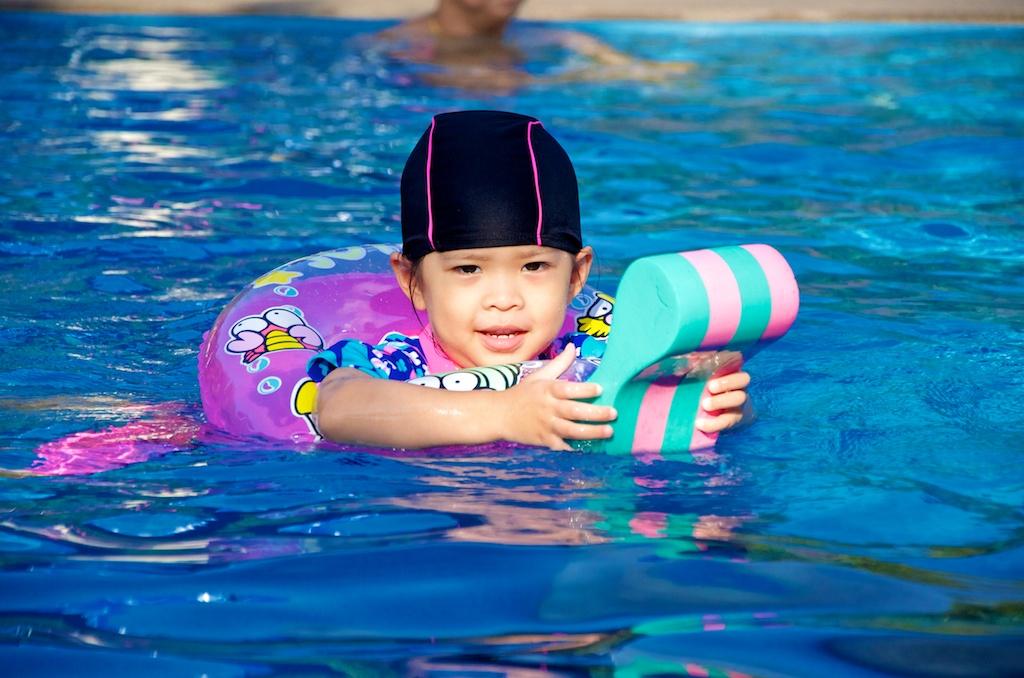 Finally PF gets to swim, after a long break