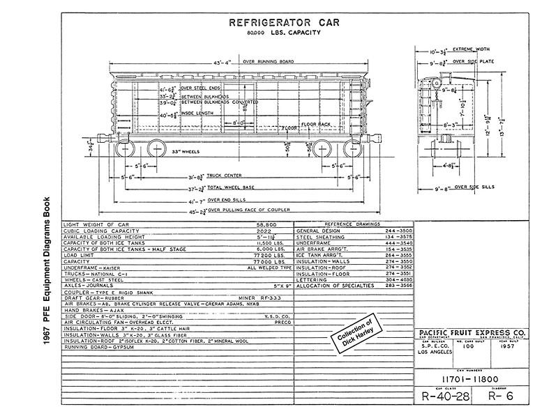 Pfe 1967 Diagram Book Harley Trains