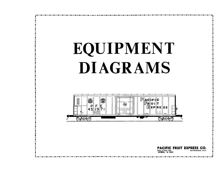 Cover 1971 PFE Diagrams