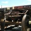 Air brake trainline and draft gear at B-end of car.<br /> Mel Johnson photo.