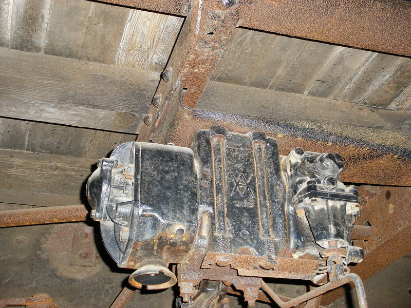 Outside view of Brake Valve and its mounting to underframe.
