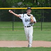 Edsel Ford's Ryan Strojny gets ready to throw to first on Wednesday afternoon against visiting Dearborn High. The Thunderbirds ultimately fell by a score of 5-4. (MIPrepZone Photo Gallery by Frank Wladyslawski)