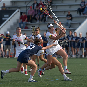 Erica Evans records her fifth first-half goal against Penn State in the Big10 semi-finals. PHOTO BY MIKE CLARK