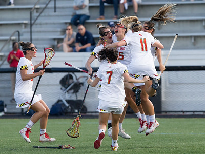 The Maryland Terrapins have plenty to celebrate as the dismiss Penn State 15-8 and head to their fourth consecutive  Big10 championship game. PHOTO BY MIKE CLARK