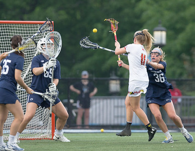 Maryland's Caroline Steele fires this goal against Penn State in a 15-8 victory in the semi-finals of the Big10 tournament. PHOTO BY MIKE CLARK