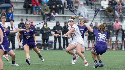 Maryland's Erica Evans manuvered through the Northwestern defense to score this second-half goal in the championship game. PHOTO BY MIKE CLARK