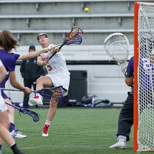 Maryland's Erin Garvey gets off a close shot but Northwestern Goalie Mallory Weisse picked up the save. PHOTO BY MIKE CLARK