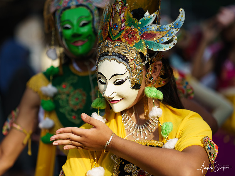 Female Dancer at East Java Annual Mask Festival