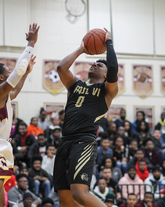 January 4, 2019: Paul VI guard Trevor Keels (0) goes for a layup during HS Boys Basketball action between Paul VI HS and McNamara HS in Forestville. Photo by: Chris Thompkins/Prince George's Sentinel