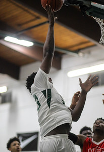 February 15, 2019: Rock Creek forward Zakir Williamson (23) scores the game winning basket during HS boys basketball action between National Christian Academy vs Rock Creek Christian Academy in Rosaryville. Photo by: Chris Thompkins/Prince George's Sentinel