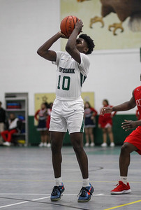 February 15, 2019: Rock Creek guard Guy Fauntleroy (10) shoots a three pointer during HS boys basketball action between National Christian Academy vs Rock Creek Christian Academy in Rosaryville. Photo by: Chris Thompkins/Prince George's Sentinel