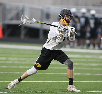 May 4, 2019: Gwynn Park midfiedler Edward Porterfield (9) attempts a shot during PG County boys lacrosse championship between Gwynn Park HS and E. Roosevelt HS in Glen Dale. Photo by: Chris Thompkins/Prince Georges County Sentinel