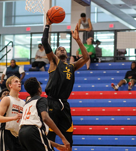 June 9, 2019: Gwynn Park Darious Boyd (12) goes for an layup during Capitol Hoops Summer League action between Potomac School and Gwynn Park HS in Hyattsville, Maryland. Photos by Chris Thompkins/Prince Georges Sentinel