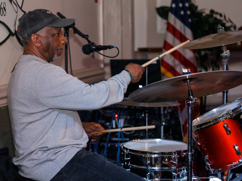 "February 23, 2019: Strangers Band drummer Ronald ""Pocket"" Ford plays the drums during the Winter Dinner/Dance Christmas in April event in Clinton. Photo by: Chris Thompkins/Prince George's Sentinel"