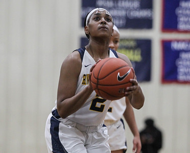 "January 31, 2019: Riverdale Baptist guard Kaylah Ivey (2) shoots a free throw during HS girls basketball action between National Christian Academy and Riverdale Baptist in Upper Marlboro. Photo by: Chris Thompkins/Prince George""s Sentinel"