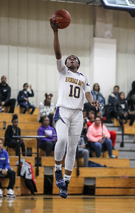 February 16, 2019: Riverdale Baptist guard Yanni Hendley (10) goes for a layup during HS girls basketball action between St Joseph Central Catholic HS (WV) and Riverdale Baptist Academy in Upper Marlboro. Photo by: Chris Thompkins/Prince George's Sentinel