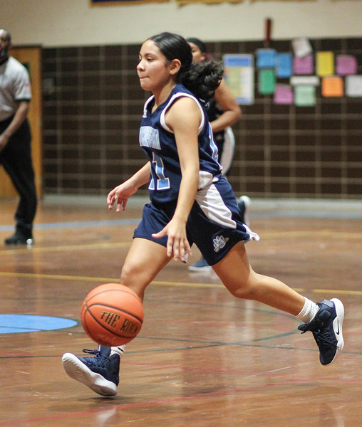 January 25, 2019: Northwestern guard Jan Martinez (11) brings the ball up the court during high school girls basketball action between Northwestern HS and Laurel HS in Laurel. Photo by: Chris Thompkins/Prince Georges Sentinel