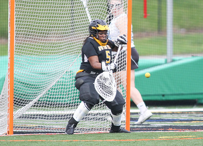 May 4, 2019: Gwynn Park goalie Kennedy Monroe (5) makes a save during PG County girls lacrosse championship between Gwynn Park HS and E. Roosevelt HS in Glen Dale. Photo by: Chris Thompkins/Prince Georges County Sentinel