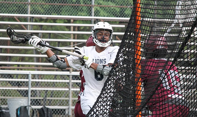 May 10, 2019: Largo attacker Cameron Draughn (6) scores a goal during MPSSAA 1A Boys lacrosse playoffs between Fairmont Heights HS and Largo HS in Largo. Photos by Chris Thompkins/ Prince Georges Sentinel