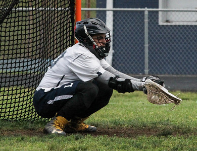 May 10, 2019: Largo goalie Josue Facey (10) makes a save during MPSSAA 1A Boys lacrosse playoffs between Fairmont Heights HS and Largo HS in Largo. Photos by Chris Thompkins/ Prince Georges Sentinel