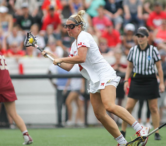 May 26, 2019: Maryland midfielder Hannah Warther (28) takes a shot during NCAA Womens Lacrosse Championship matchup between Boston College and University of Maryland in Baltimore. Photos by Chris Thompkins/Prince Georges Sentinel