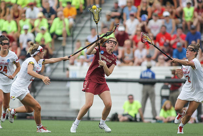 May 26, 2019: Boston College attacker Sam Apuzzo (2) attempts a shot through Maryland defenders during NCAA Womens Lacrosse Championship matchup between Boston College and University of Maryland in Baltimore. Photos by Chris Thompkins/Prince Georges Sentinel