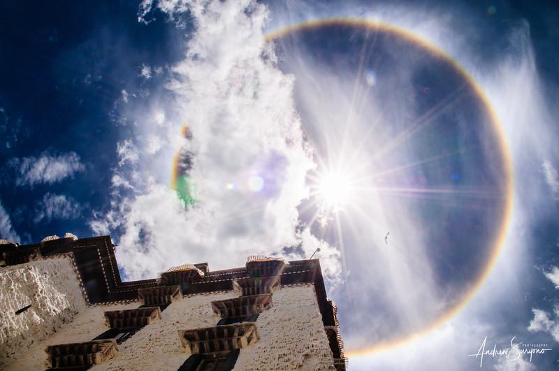Angelic Circular Rainbow in Tibet