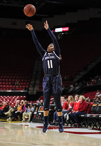 January 20, 2019: Penn State guard Teniya Page (11) attempts a three pointer during Big Ten womens basketball action between Penn State and University of Maryland in College Park. Photo by: Chris Thompkins/Prince Georges Sentinel