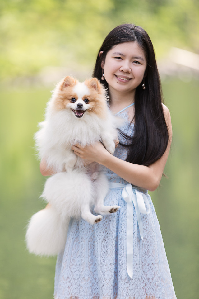 Chattanooga High School Senior Girl Portraits including dog!