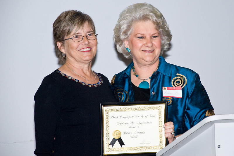 Newly Elected President Dolores Newman With Outgoing President Barbara Lee