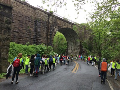5.11.16 Patapsco River Watershed Cleanup & Invasives Removal with Thomas Viaduct Middle School