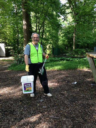 5.14.16 Bull Branch Invasives Removal & Cleanup at Lurman Woodland Theatre Area in Catonsville