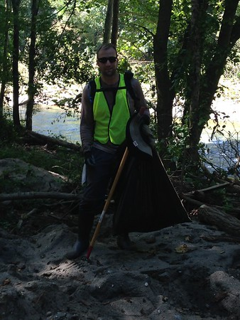 8.26.2016 Watershed Cleanup in Patapsco State Park Orange Grove Area, Baltimore County Side
