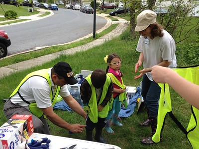 4.29.2017 Watershed Cleanup of Herbert Run off of Ingleside Ave. with Westowne Elementary School Families and the Ingleside Community