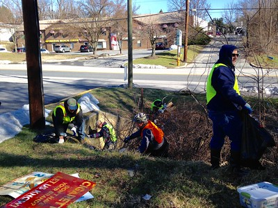 3.20.2017 Hudson Banch Cleanup with Maryland  Enviromental Service