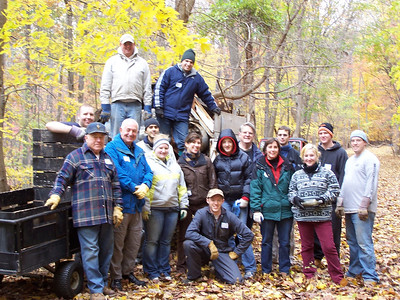 11.17.07 Watershed Cleanup near Miller Branch off Rockhaven Rd. in Patapsco State Park