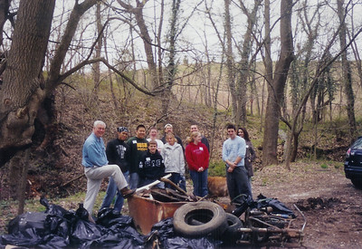 4.14.07 Herbert Run-Paradise Ave. Stream Cleanup & UMBC Stream Cleanup on Campus