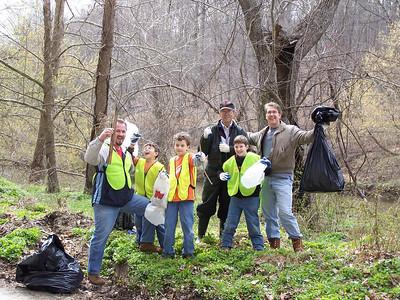 4.14.07 Patapsco River-River Rd. Stream Cleanup in Historic Ellicott City-Oella