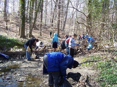 3.29.08 Sawmill Branch Cleanup-Catonsville