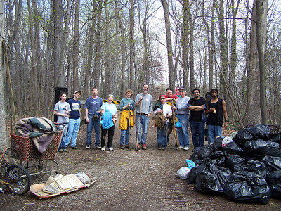 4.12.08 Sawmill Branch Cleanup-Catonsville Park