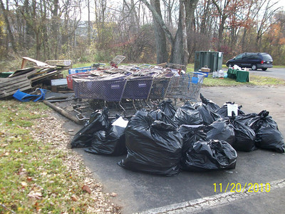 11.20.10 Miller Run Cleanup in Catonsville