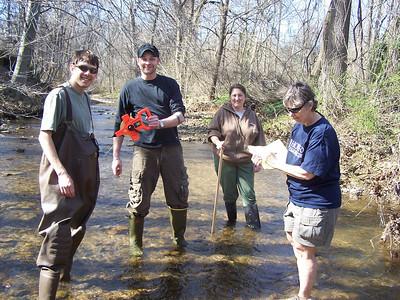 3.24.10 BWET Program-Bascom Creek Water Quality Testing with HCC Students