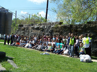 4.14.10 (2) In Historic Oella, Cleanup Along Patapsco River with Hammonds Middle School