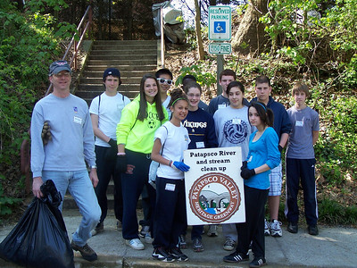 4.16.10 In Historic Ellicott City, Cleanup Along the Patapsco River with Hammond Middle School