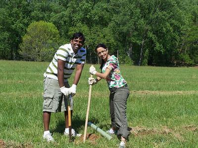 4.24.10 Tree Planting at Patapsco State Park near Belmont