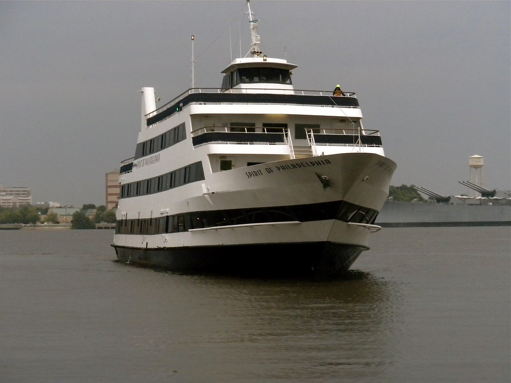 Dinner on board a sailing vessell restuarant called the Moshulu moored at Penn's Landing in Philadelphia: Moshulu Restaurant & Bar, 401 S. Columbus Blvd., Philadelphia, PA