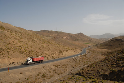 TO THE BERBERS OF MOROCCO'S HIGH ATLAS, TRUCK DRIVERS ARE THEIR VERY LIFEBLOOD - AND DRIVERS HAVE TO DEPEND ON ONE ANOTHER IN SUCH HARSH TERRAIN