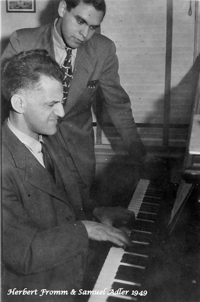 Composer Herbert Fromm & H. Samuel Adler 1949