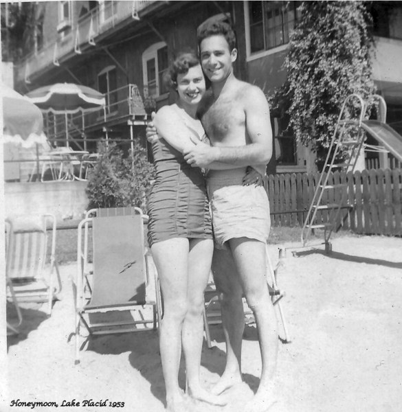 Honeymoon, Marianne & Ronald, Lake Placid 1953