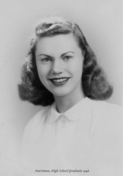 Marianne Adler, High School Graduation Picture, 1948